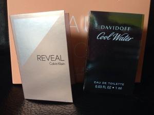Parfum Proben - Calvin Klein Reveal und Davidoff Cool Water