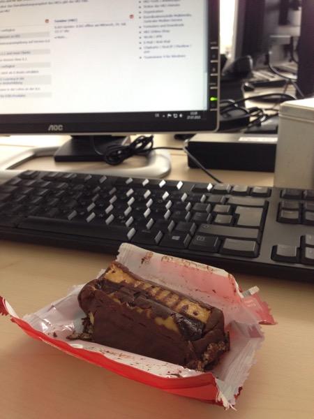 Marmorkuchen als kleiner Snack im Büro